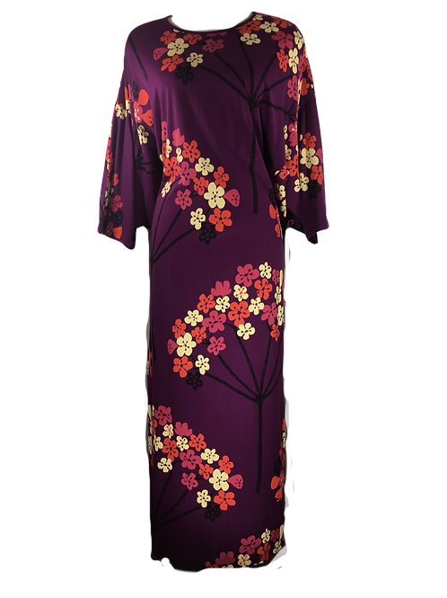 FLOWERS Ladies Long Caftan