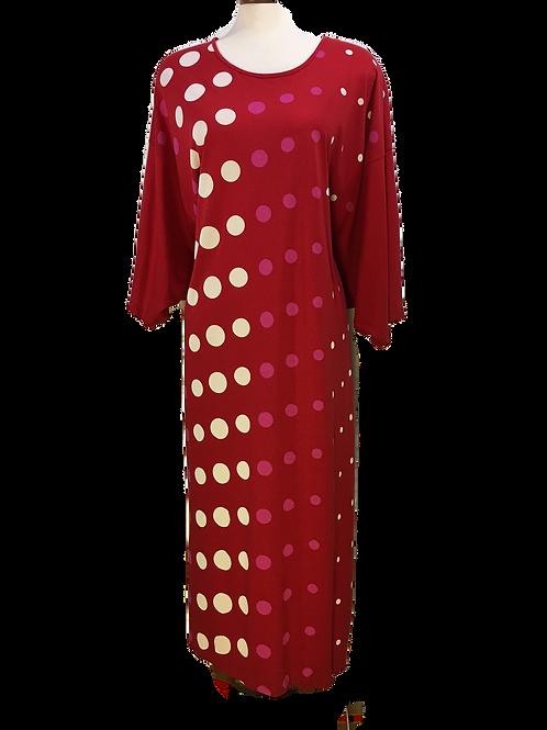 RED Ladies Long Caftan