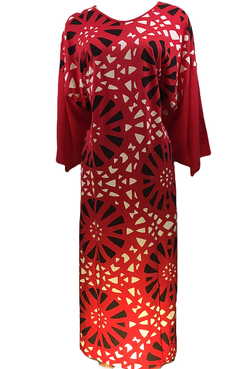 RED Ladies Caftan