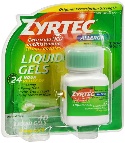 Zyrtec 10mg Liquigel - 40 Count