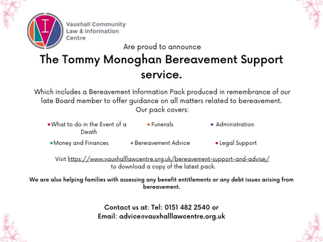 Bereavement Advice Service Launch