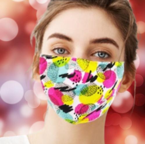 Reusable & Washable Fabric Mask with Adjustable Earloop (Dots)