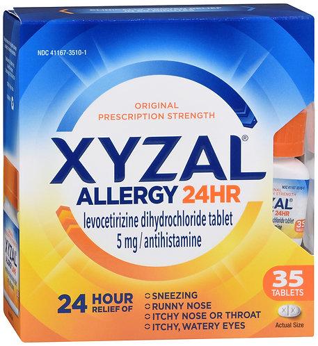Xyzal Allergy 24hr 5mg - 35 tablets