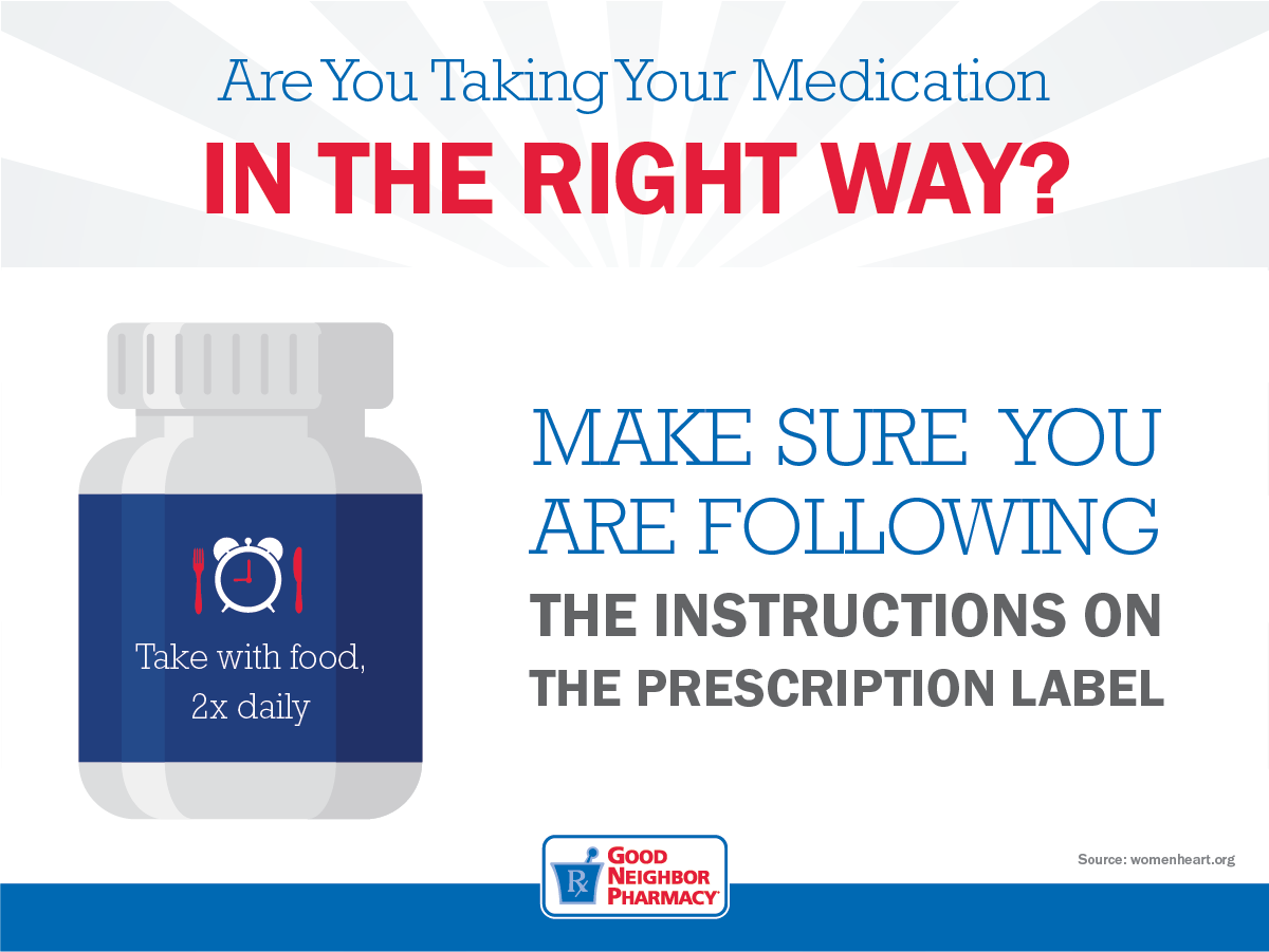 Are You Taking Your Medications In The Right  Way?