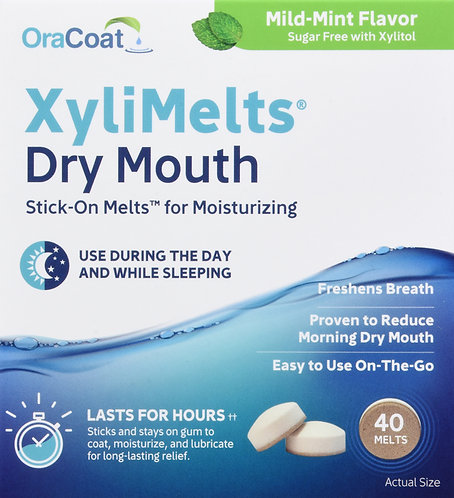 Xylimelts Dry Mouth Stick-On Melts - 40 Melts