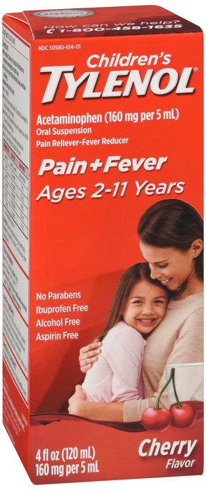 Children's Tylenol Pain + Fever Suspension (Cherry Flavor) - 4OZ