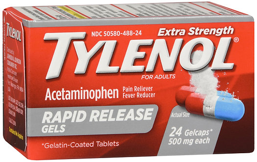 Tylenol Extra Strength (500mg) Rapid Release - 24 Gelcaps