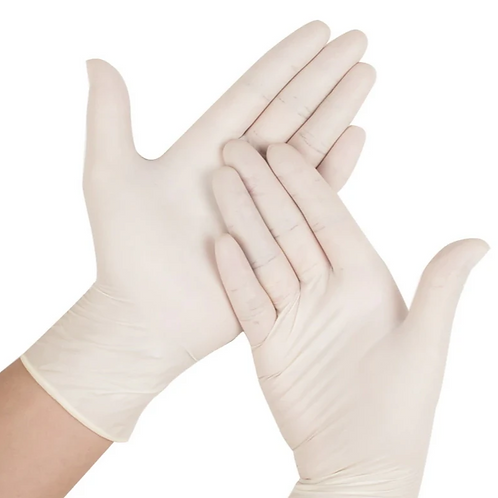 Disposable Latex gloves - 100 gloves