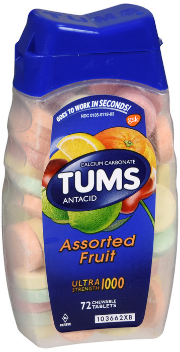 Tums Antacid Ultra Strength Assorted fruit 72CT