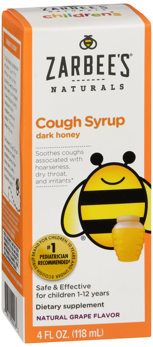 Zarbees Cough Syrup (dark honey) 4oz