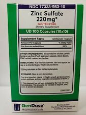 Zinc Sulfate 220 MG CAP - 100 Count (Unit Dose Package)