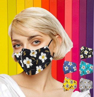 Reusable & Washable Fabric Mask with Adjustable Earloop (Floral)