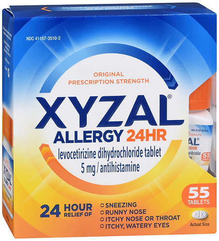 Xyzal Allergy 24HR 5mg - 55 Tablets