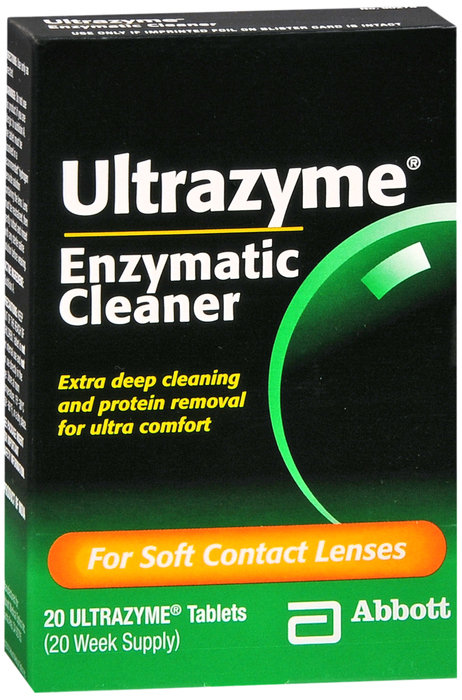 Ultrazyme Soft Contact Lens Cleaner - 20 Tabs