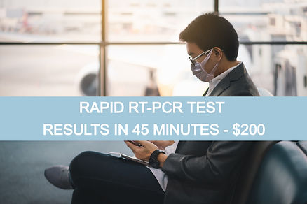 COVID 19 Testing Rapid RT PCR Test Results in 45 minutes