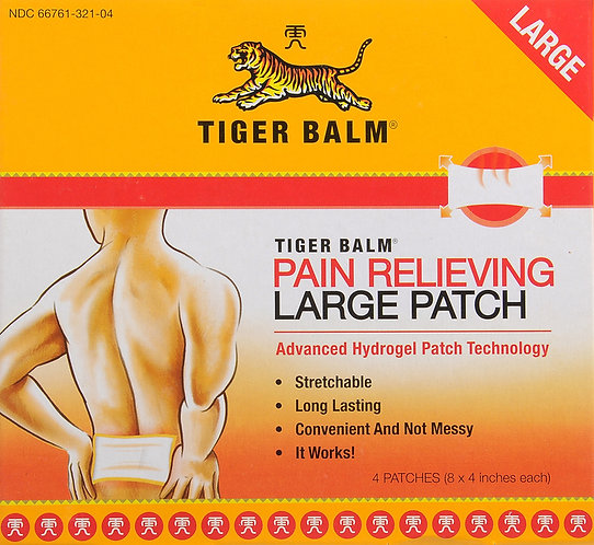 TIGER BALM LARGE PATCH - 4 Count
