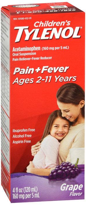 Children's Tylenol Liquid Suspension (Grape Flavor) - 120ML