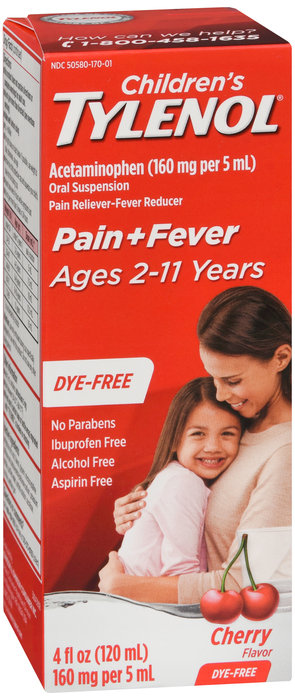 Tylenol Dye Free Suspension (Cherry Flavor) - 4OZ