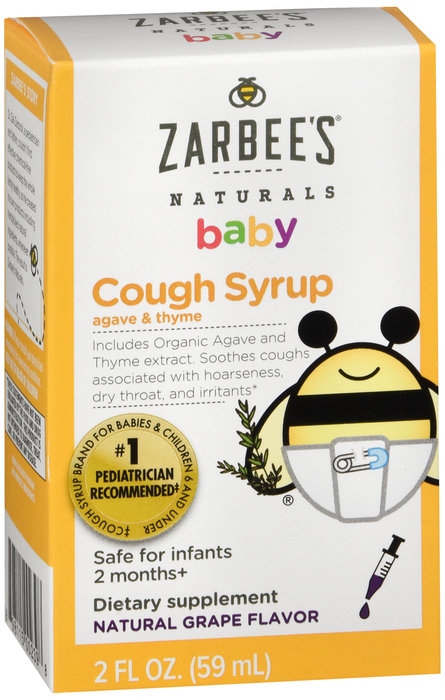 Zarbees Baby Cough Syrup Grape - 2oz