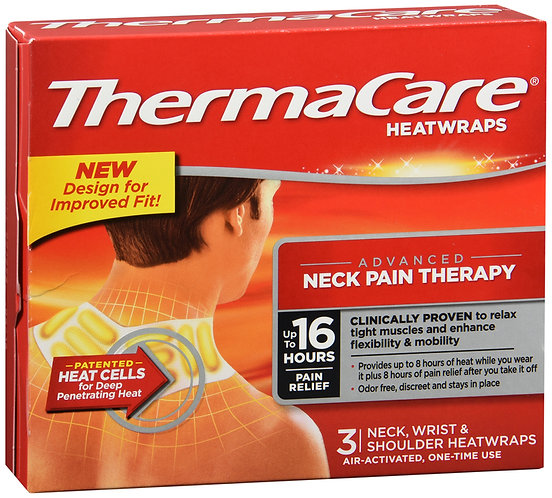 THERMACARE NECK/SHOULDR/WRIST HEATWRAP - 3 WRAPS