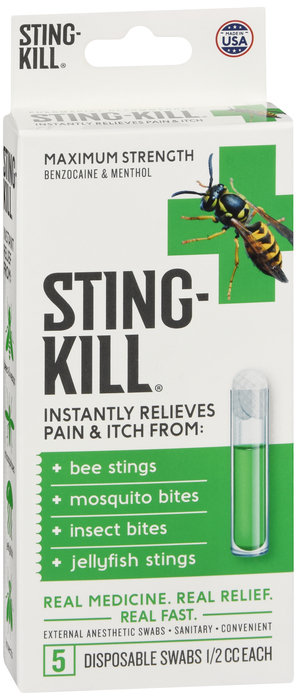 STING KILL - 5 DISPOSABLE SWABS