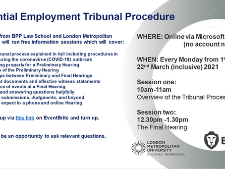 Free Online Information Sessions About Employment Tribunal.