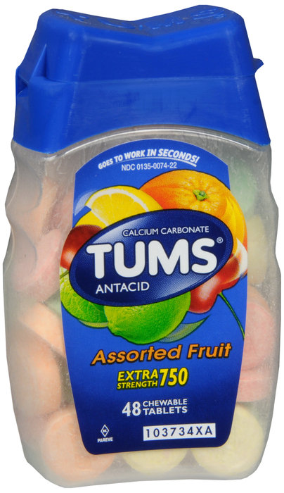 Tums Extra Strength 750 (Assorted Fruit) - 48 Tablets