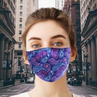 Reusable & Washable Fabric Mask with Adjustable Earloop (Paisley)