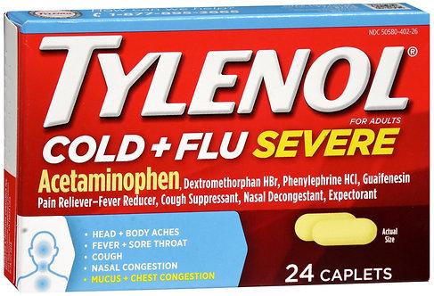 Tylenol Cold + Flu Severe  - 24 Caplets