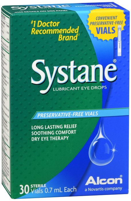 SYSTANE LUBRICANT EYE DROPS (PRESERVATIVE FREE) - 30 VIALS