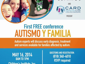 MEDIA ALERT - ACT Today! Conference Aims to Help Hispanic Families Impacted by Autism