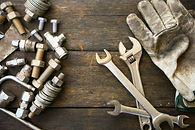 Wrenches, work gloves, tools