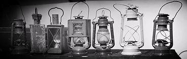 Kerosene lamps, vintage lamps