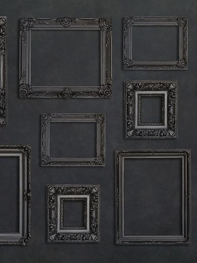 Black on black gallery wall/ legacy wall.