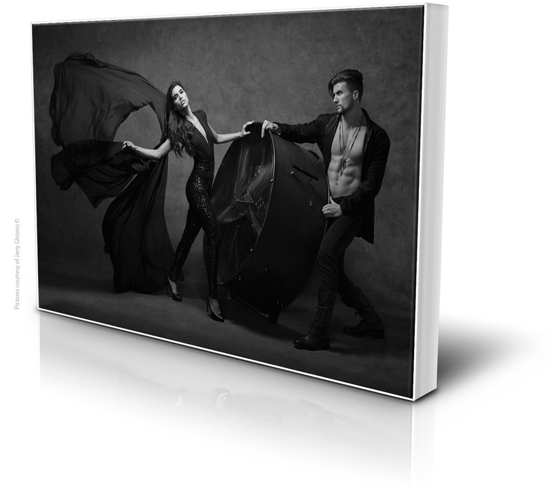 Sample image of large format canvas from Graphi Studio, photo courtesy of Graphi Studio.