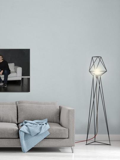 Deanna Dusbabek Photography large format sample in living room.