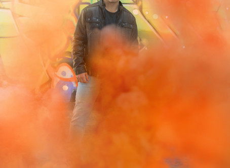 Working with smoke bombs
