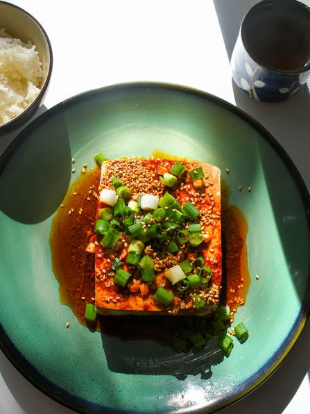 Warm Tofu with Spicy Garlic Sauce, Following Your Gut, Coldplay, Sigrid, & John Adams
