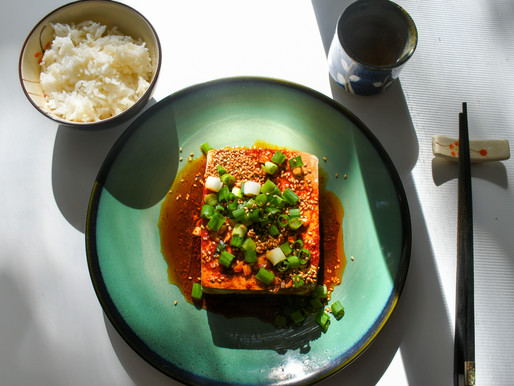 Warm Tofu with Spicy Garlic Sauce, Following Your Gut, Coldplay, Sigrid, & John Adams