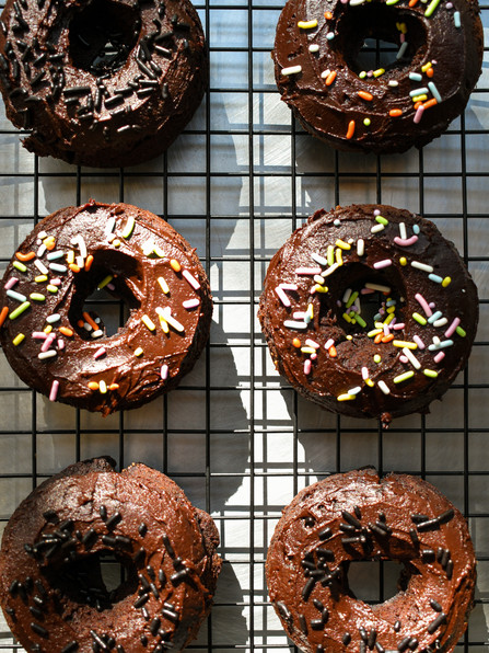 Chocolate Fudge Cake Donuts, Happiness & A Slight Change of Plans