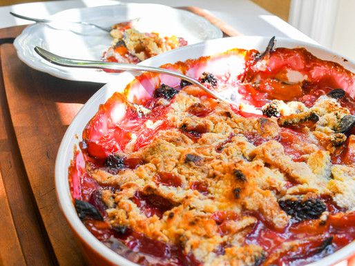 The Best Nectarine & Blackberry Crisp, Hometown Orchards, Olivia Rodrigo,  Jarret, Marling, & MELVV