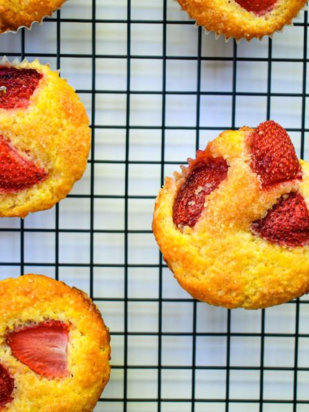 Fresh Strawberry Corn Muffins, Wine Day, UB40, Doja Cat, War, Mark Ronson, Amy Winehouse, & Orff