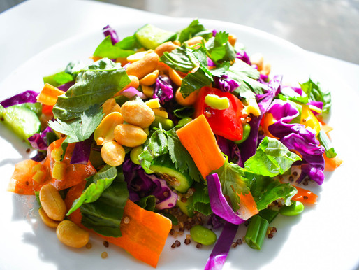 """Thai Quinoa Salad,""""If Your Cat's Neurotic, It's Probably Mirroring You,""""Calm,Lennox, Bowie & Debussy"""