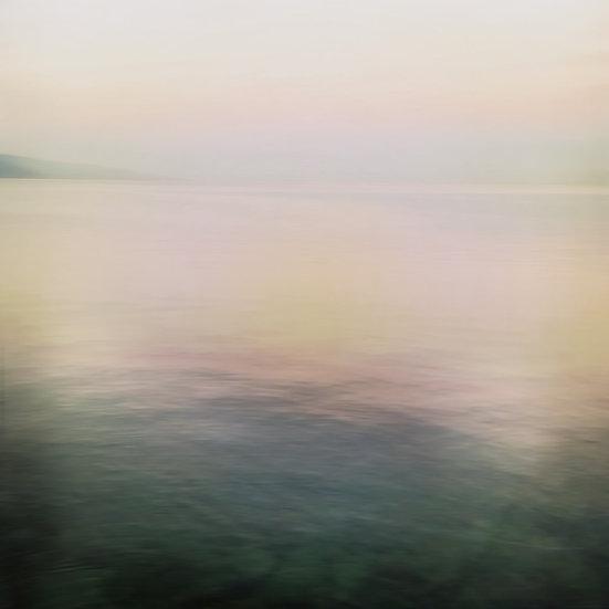 Lac Léman matin froid