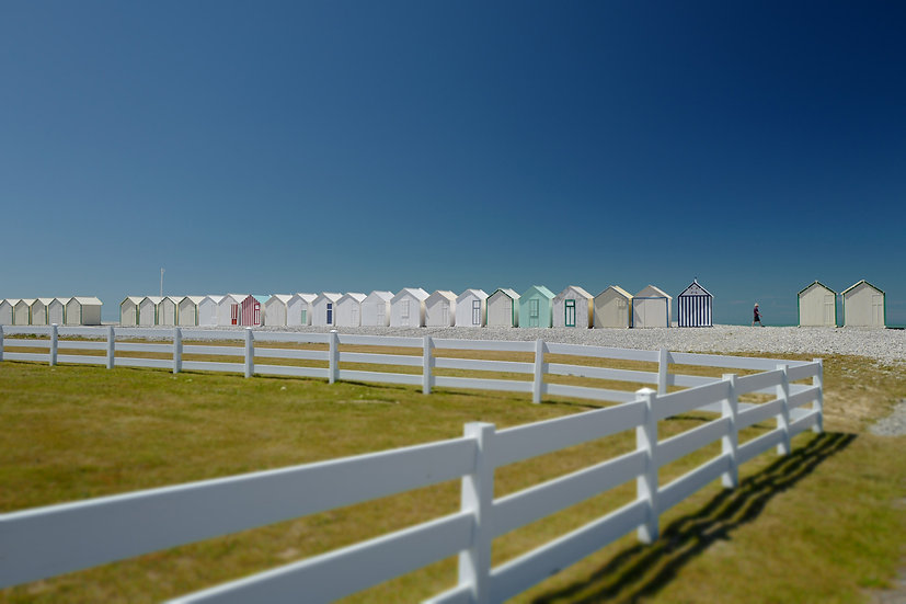 La plage au loin - Format 40x50cm
