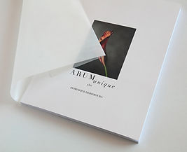 album photo de 50 images de fleurs arum en tirage unique à un seul exemplaire