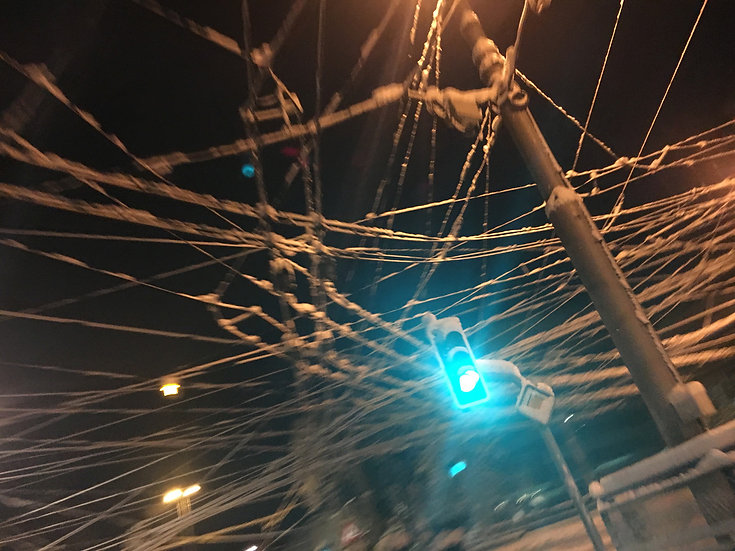 Montreux tram de nuit