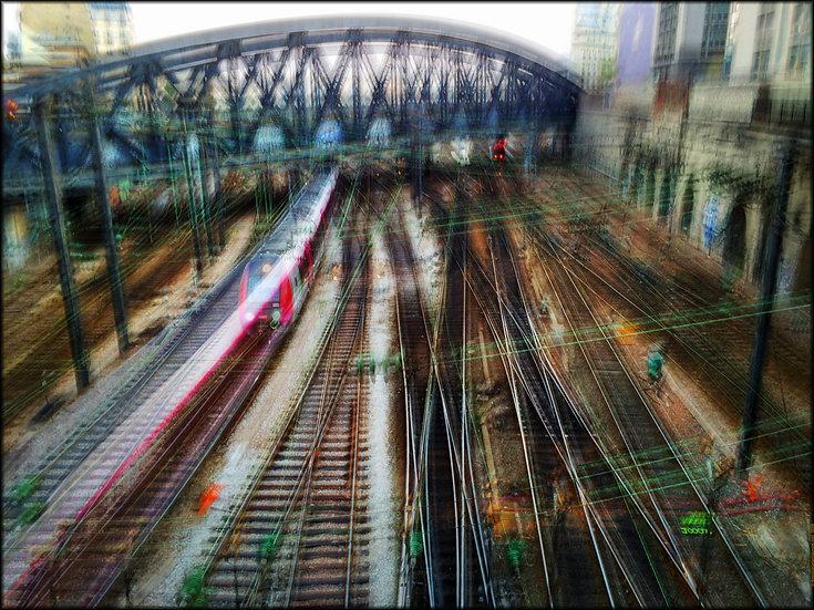 Gare de L'Est - Format 40x50cm
