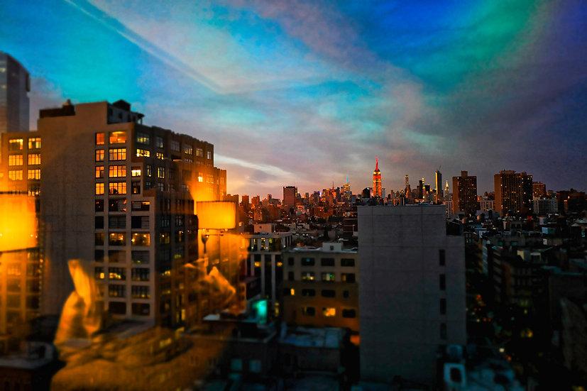 New-York Bleu - Format 40x50cm