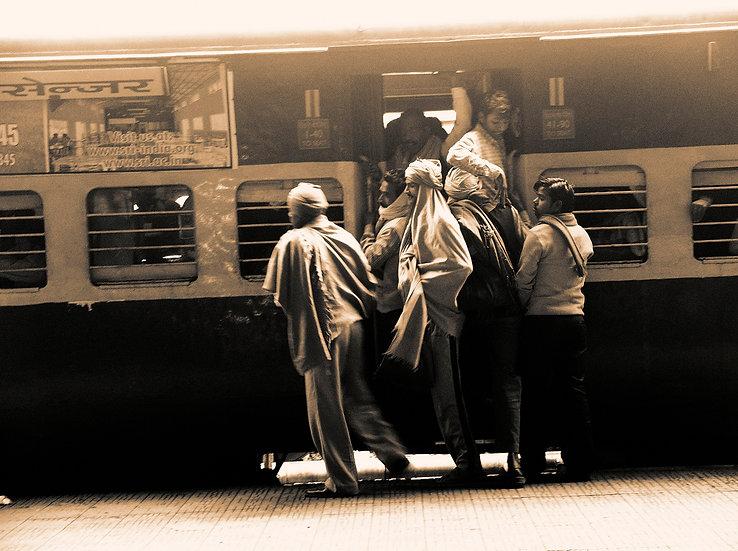 Inde train départ